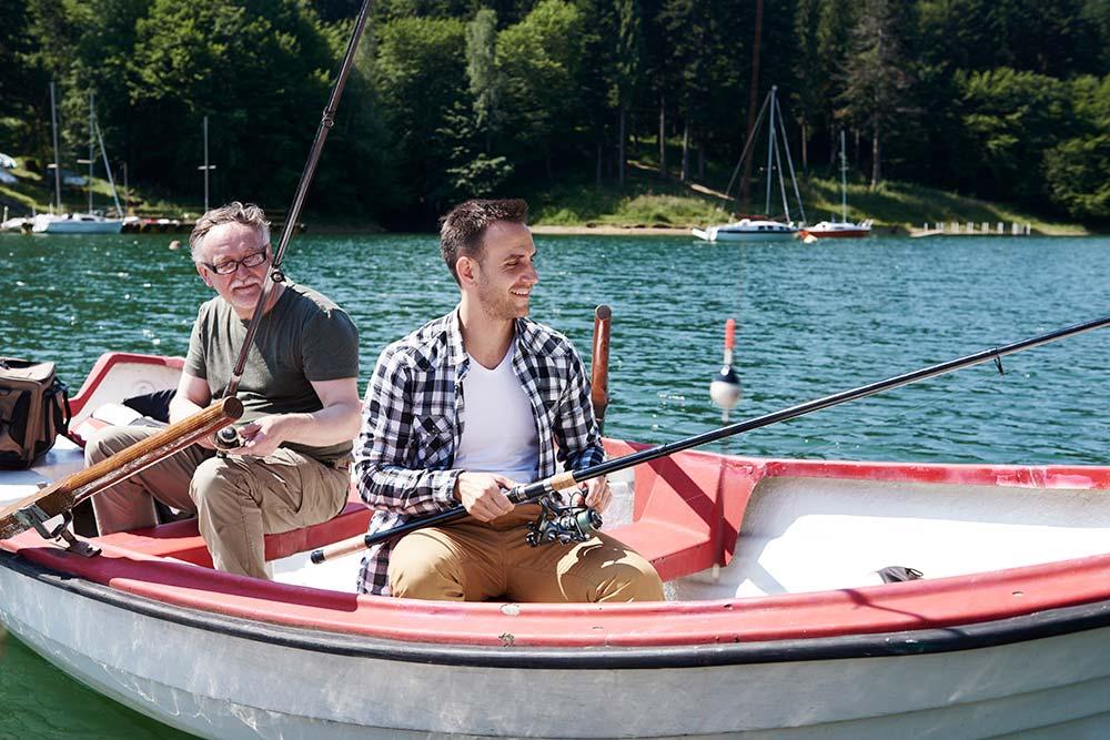 men in a fishing boat