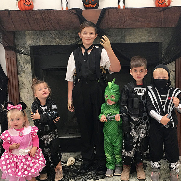 kids dressed up for costume party